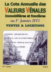 Valeurs vénales au 1er janvier 2015