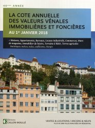 Valeurs vénales au 1er janvier 2018
