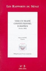 Vers un traité constitutionnel européen. Octobre 2003