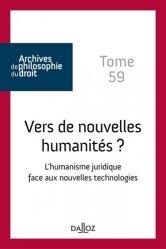 Vers de nouvelles humanités ? L'humanisme juridique face aux nouvelles technologies