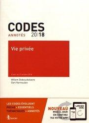 Vie privée. Edition 2018