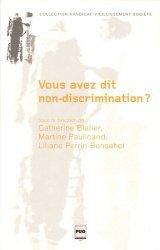 Vous avez dit non-discrimination