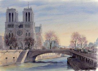Vues de Paris à l'aquarelle. Ouvrage bilingue, Edition bilingue français-anglais