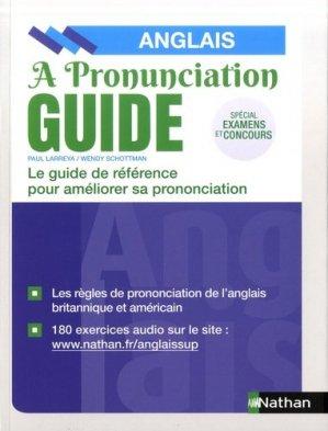 A pronunciation guide Anglais - nathan - 9782091653808 -