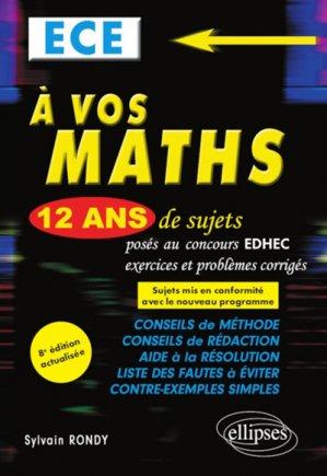 A vos maths ECE - ellipses - 9782340032644 -