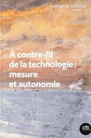 A contre-fil de la technologie : mesure et autonomie - bord de l'eau - 9782356877420 -