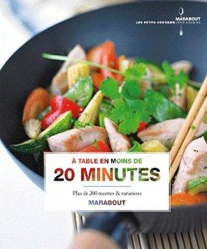A table en moins de 20 minutes - Marabout - 9782501076197 -