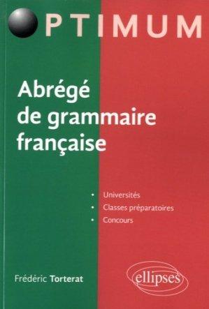 Abrégé de grammaire française - Ellipses - 9782340009462 -