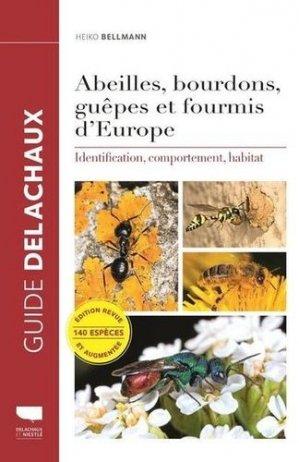 Abeilles, bourdons, guêpes et fourmis d'Europe - delachaux et niestlé - 9782603025390 -