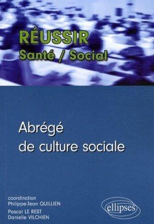 Abrégé de culture sociale - ellipses - 9782729840266 -