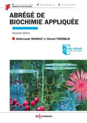 Abrégé de biochimie appliquée - edp sciences - 9782759817764 -