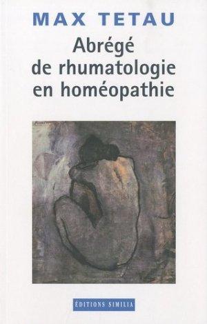 Abrégé de rhumatologie en homéopathie - similia - 9782842510466 -