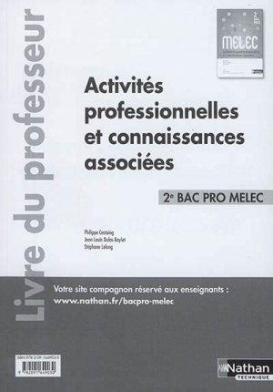 Activités professionnelles et connaissances associées -  2e Bac pro MELEC 2017 - nathan - 9782091649030 -