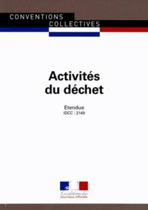 Activités du déchet - journaux officiels - 9782110770196 -