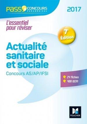 Actualité sanitaire et sociale - AS- AP-IFSI 2017 - foucher - 9782216141616 -