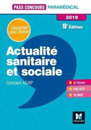 Actualité sanitaire et sociale - AS-AP 2019 - foucher - 9782216153305 -