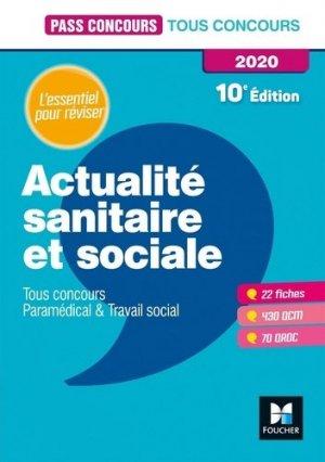 Actualité sanitaire et sociale 2020 - foucher - 9782216156917 -