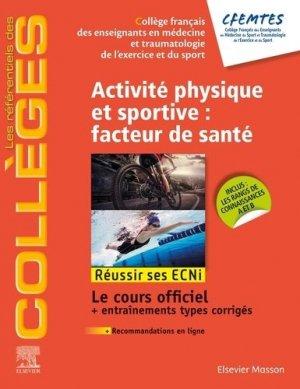 Activité physique et sportive: facteur de santé - elsevier / masson - 9782294757341 -