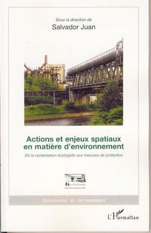 Actions et enjeux spatiaux en matière d'environnement - l'harmattan - 9782296037069 -