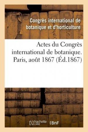 Actes du Congrès international de botanique - Hachette/BnF - 9782329413877 -