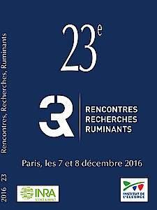 Actes des 23èmes Rencontres Recherches Ruminants 2016 (3R) - technipel / institut de l'elevage - 9782363437792 -