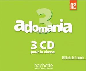 Adomania 3 : CD audio classe - hachette français langue etrangère - 3095561961829 -