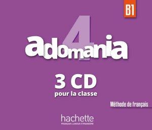 Adomania 4 - CD Audio Classe - hachette français langue etrangère - 3095561992199 -