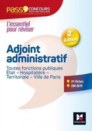 Adjoint administratif. 2e édition - Foucher - 9782216148066 -