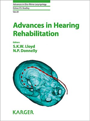 Advances in Hearing Rehabilitation - karger - 9783318063141 -