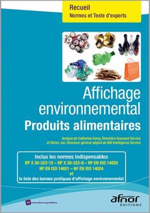 Affichage environnemental - afnor - 9782122531112 -