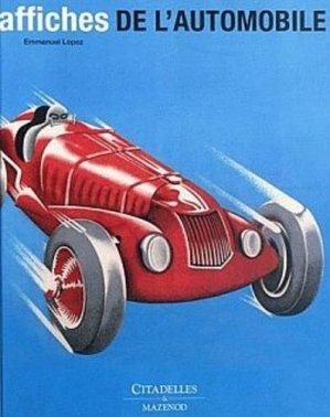 Affiches de l'automobile - citadelles et mazenod - 9782850883484 -