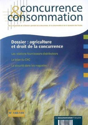 Agriculture et droit de la concurrence - la documentation francaise - 3303337201483 -