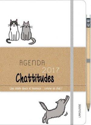 Agenda chattitudes 2017 / une année douce et heureuse... comme un chat ! - larousse - 9782035924773 -