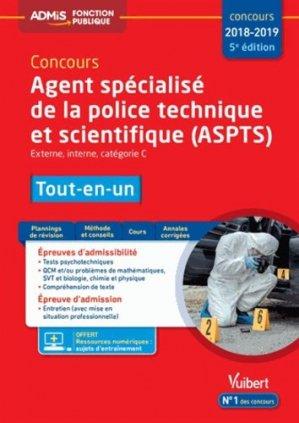 Agent spécialisé de la police technique et scientifique (ASPTS)-vuibert-9782311205497