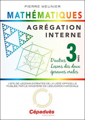 Agrégation interne de mathématiques - Cépaduès - 9782364936331 -