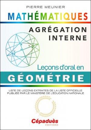 Agrégation interne de mathématiques - cépaduès - 9782364937260