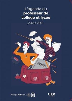 Agenda du professeur collège-lycée. Edition 2020-2021 - First - 9782412058169 -