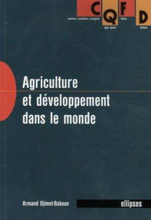 Agriculture et développement dans le monde - ellipses - 9782729818821 -