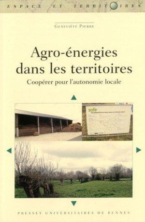 Agro-énergies dans les territoires - presses universitaires de rennes - 9782753550452 -