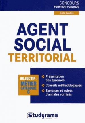 Agent social territorial - studyrama - 9782759019717 -