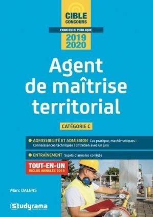 Agent de maîtrise territorial. Catégorie C, Edition 2019-2020 - Studyrama - 9782759039814 -