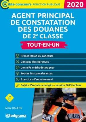 Agent principal de constatation des douanes de 2e classe. Tout-en-un, Edition 2020 - Studyrama - 9782759042067 -