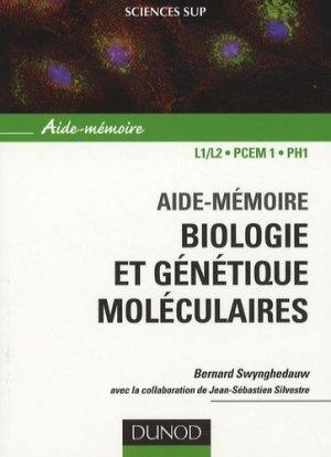 Aide-mémoire biologie et génétique moléculaires - dunod - 9782100496280 -