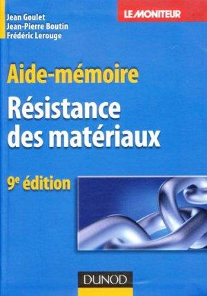 Résistance des matériaux - dunod - 9782100521999 -