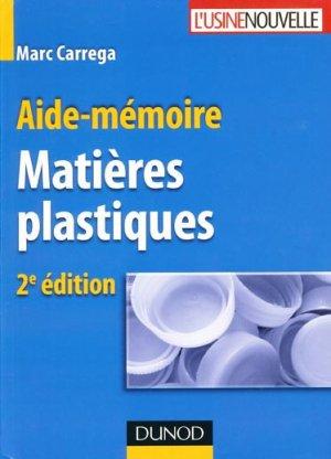 Aide-mémoire Matières plastiques - dunod - 9782100522620 -