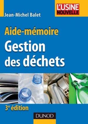 Gestion des déchets - dunod - 9782100564347 -