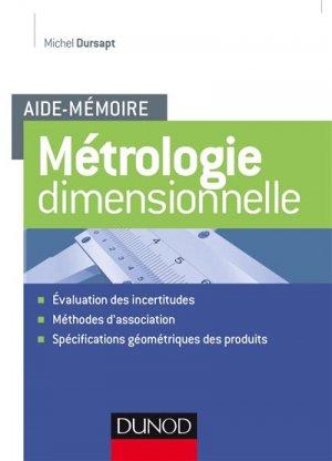 Aide-mémoire Métrologie dimensionnelle - dunod - 9782100760039 -