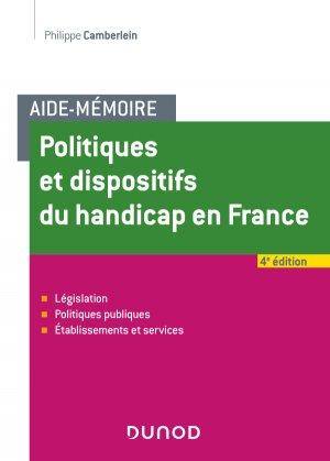 Politiques et dispositifs du handicap en France - dunod - 9782100788354 -