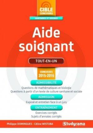 Aide-soignant - Concours 2015-2016 - studyrama - 9782759029747