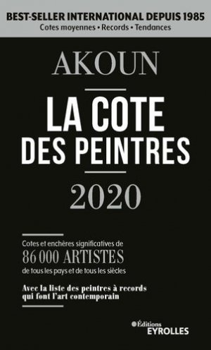 Akoun, la cote des peintres 2020 - eyrolles - 9782212573527 -